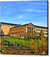 Philadelphia Art Museum From West River Drive. Acrylic Print