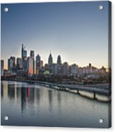 Philadelphia At Dawn From The South Street Bridge Acrylic Print