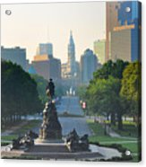 Philadelphia Benjamin Franklin Parkway Acrylic Print by Bill Cannon