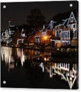 Philadelphia Boathouse Row At Night Acrylic Print