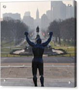 Philadelphia Champion - Rocky Acrylic Print by Bill Cannon