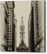 Philadelphia City Hall From South Broad Street Acrylic Print