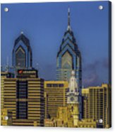 Philadelphia City Hall Skyline Acrylic Print