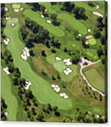 Philadelphia Cricket Club Militia Hill Golf Course 6th Hole 2 Acrylic Print by Duncan Pearson