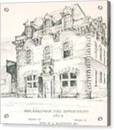 Philadelphia Firehouse Acrylic Print