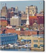 Philadelphia - From The Ben Franklin Bridge Acrylic Print