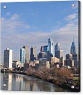 Philadelphia From The South Street Bridge Acrylic Print by Bill Cannon