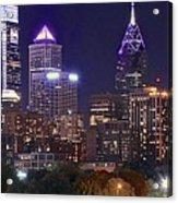 Philadelphia Full Moon Panorama Acrylic Print