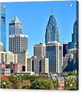 Philadelphia In Tight Acrylic Print