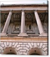 Philadelphia Library Pillars Acrylic Print