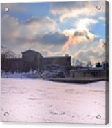 Philadelphia Museum Of Art At Winter Sunrise Acrylic Print