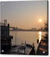 Philadelphia - Penn's Landing Sunrise Acrylic Print
