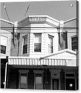 Philadelphia Row Houses - Black And White Acrylic Print