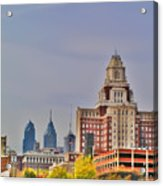 Philadelphia Skyline From Camden Waterfront Acrylic Print