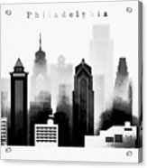 Philadelphia Skyline Graphic Work Acrylic Print