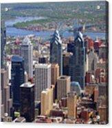 Philadelphia Skyscrapers Acrylic Print by Duncan Pearson