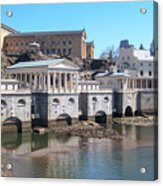 Philadelphia Waterworks And Art Museum Panorama Acrylic Print