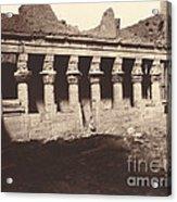 Philae, Cour Int?rieure, Colonnade De L'ouest Acrylic Print