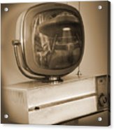 Philco Television  Acrylic Print by Mike McGlothlen