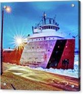 Philip R.clarke West Pier Sault Ste.marie Michigan -3124 Acrylic Print