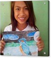 Philippine Kingfisher Painting Contest 7 Acrylic Print