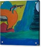 Philippine Kingfisher Painting Contest2 Acrylic Print