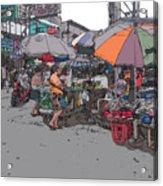 Philippines 708 Market Acrylic Print