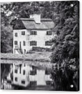 Philipsburg Manor House - Reflections - Bw Acrylic Print