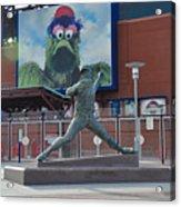 Phillies Steve Carlton Statue Acrylic Print