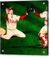 Phillies Win The World Series Acrylic Print