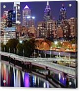 Philly In Panoramic View Acrylic Print