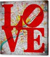 Philly Love V1 Acrylic Print