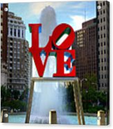 Philly Love Acrylic Print