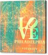 Philly Love V10 Acrylic Print