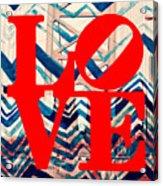 Philly Love V17 Acrylic Print
