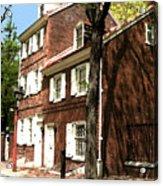 Philly Row House 2 Acrylic Print by Paul Barlo
