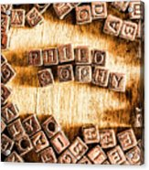 Philosophy Word Art Acrylic Print