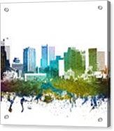 Phoenix Cityscape 01 Acrylic Print