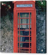 Phone Booth Acrylic Print