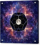 Photo Of The Moon And Sacred Geometry Acrylic Print