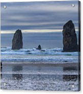 Photographer At Cannon Beach Acrylic Print