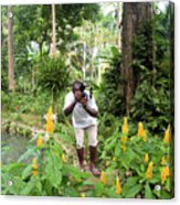 Photographer In The Jungle Acrylic Print