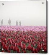 Photographers In The Mist Acrylic Print