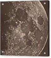 Photographie De La Lune A Son 1er Quartier Acrylic Print