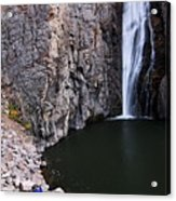 Photographing Porcupine Falls Acrylic Print