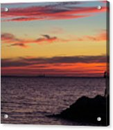 Photographing The Sunset Acrylic Print
