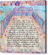 Physician Prayer- English Version Acrylic Print