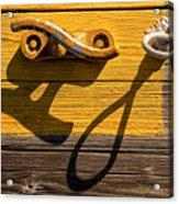 Pi Theta Shadows - Dock Cleat And Rope Acrylic Print