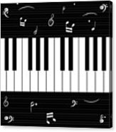 Piano And Music Background Acrylic Print
