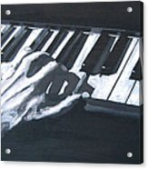 Piano Hands Plus Metronome Acrylic Print